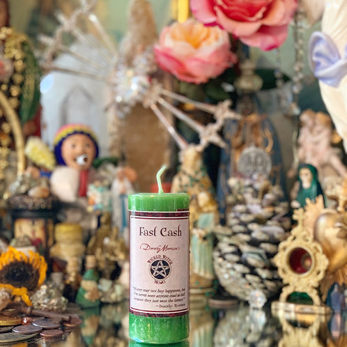 Fast Cash Mojo Candle- Bring in Fast Cash, Attract Money Quickly, Gamblers Luck