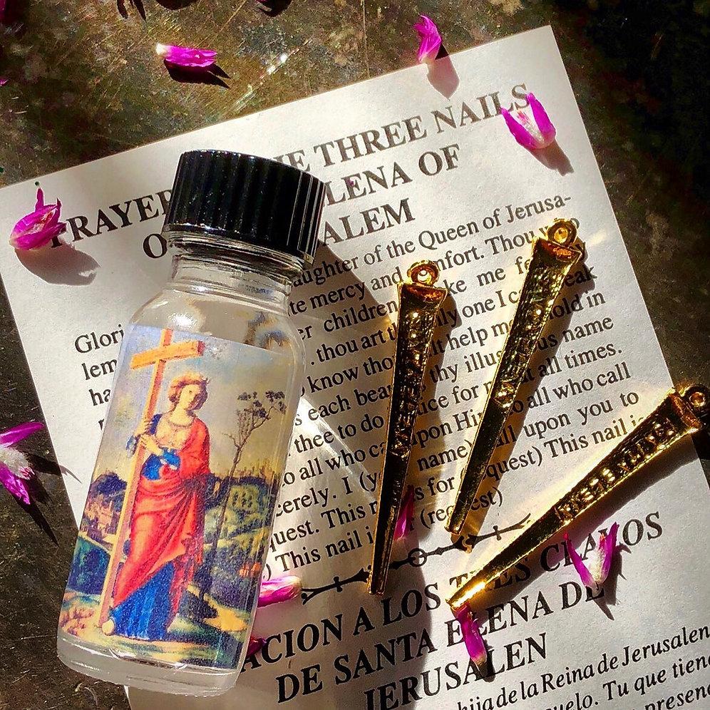 Saint Elena's Spell Set- 3 Talisman Nails, Oil & Prayer- Return Your Love