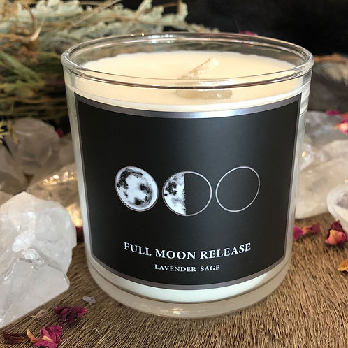 Full Moon 6oz Candle- Release What No Longer Serves You