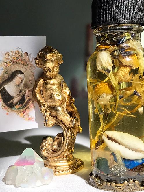 St. Rita oil-  Hoodoo, Voodoo, Wiccan, Pagan, Santeria, Brujeria, Folk Magic, Pagan, Spiritualist, spell, conjure