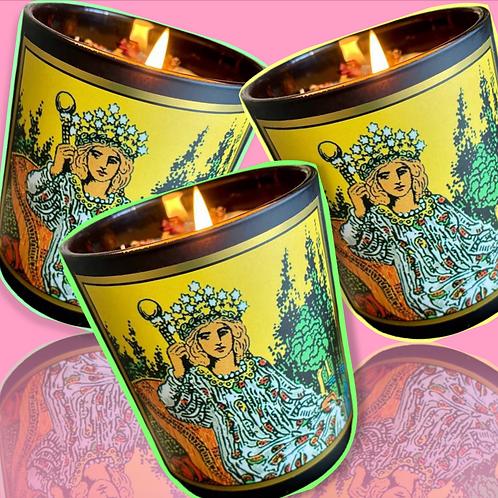 The Empress Tarot Candle-  Abundance. Prosperity. Fertility. Growth. Love.