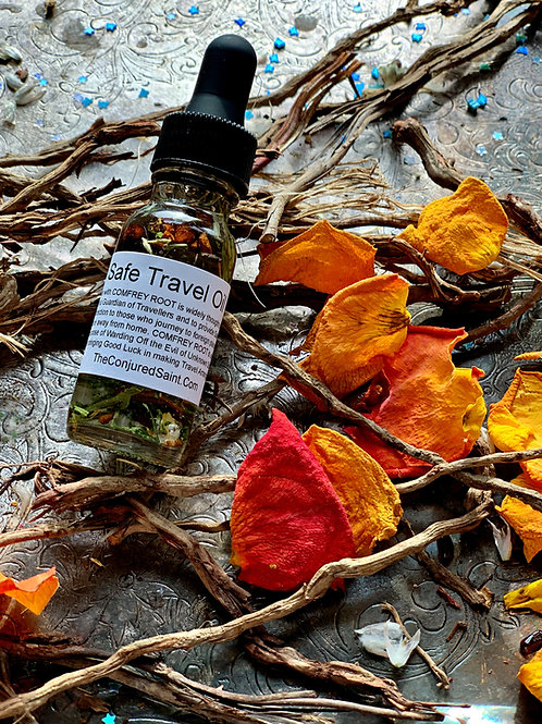 Safe Travel Oil - For Safety While on A Journey & For A Happy Welcome Home. Hoodoo, Voodoo, Wiccan, Pagan, Santeria, Brujeria