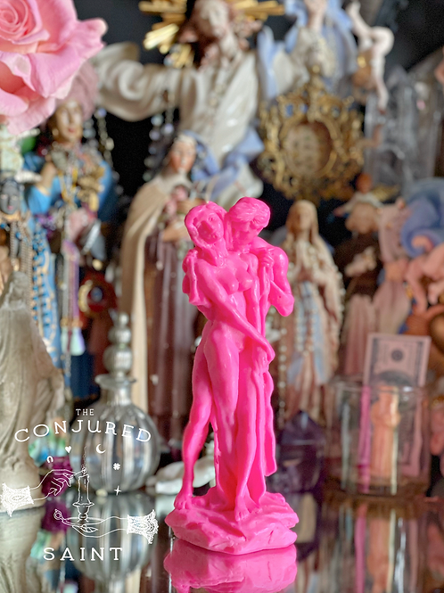 Adam & Eve Ritual Image Candle - PINK- Passionate Sex, Relationships, Marriage