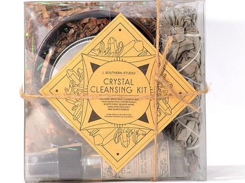 CRYSTAL CLEANSING RITUAL KIT-  Protection & Banishing