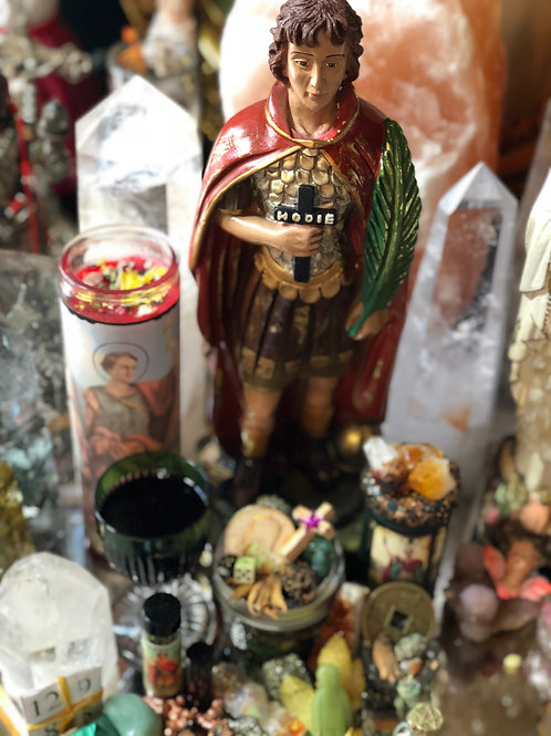 Saint Expedite Vigil Candle Service Booster- Quicker Results, Solution, Goals