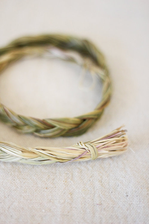 Sweetgrass Incense Braid -Vanilla Grass- Holy Grass-  Attract Positive Energies