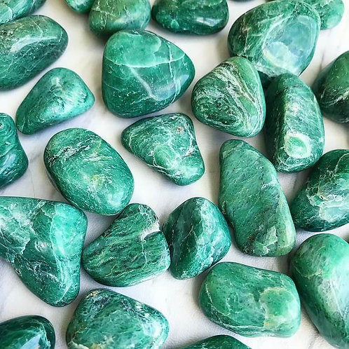 Jade Tumbled Stone- Endless Good Luck, Money Attracting Energy, Friendships