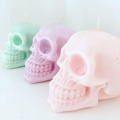 Pastel Purple Skull Candle  - Power, Success, Compel, Bend Over Work