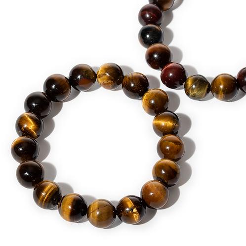 Tiger's Eye Gem Stone Bracelet- Courage, Stability & Protection