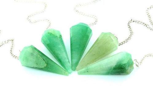 Green Aventurine Pendulum- Strength, Courage, Success, Love, Money, Divine Power