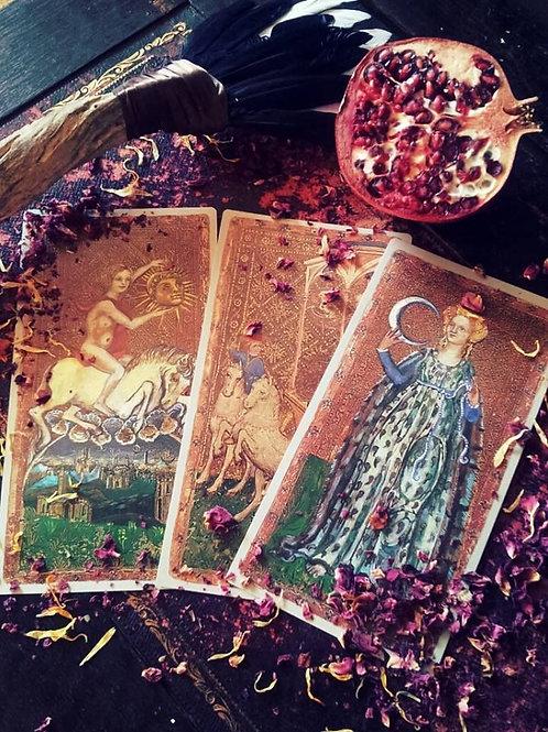 Three Card Pull Tarot Reading- Insight Into The Past, Present & Future