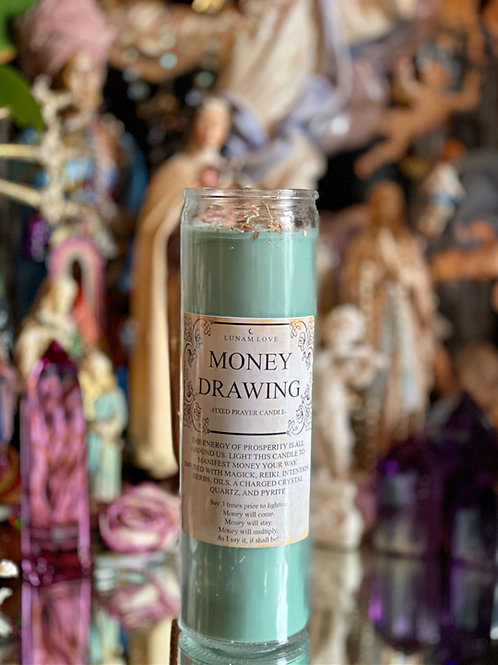 MONEY DRAWING Fixed Prayer Candle