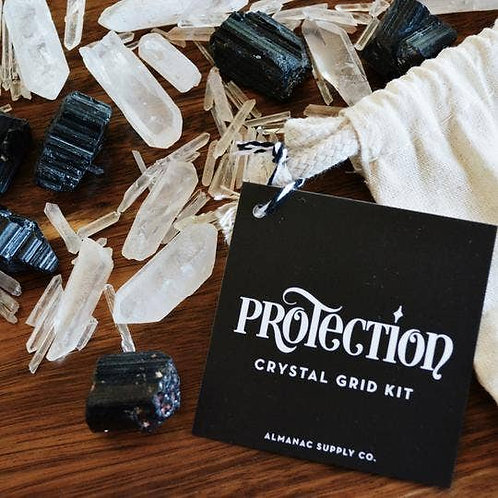 Protection Crystal Grid Kit - Barrier Against Attacks, Hexes, Negative Energy