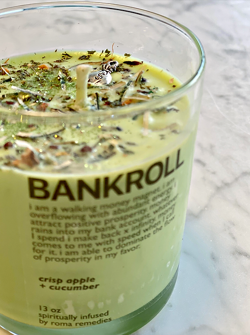 Bankroll Ritual Candle - Money Spells -Faster Finances - Money Baby