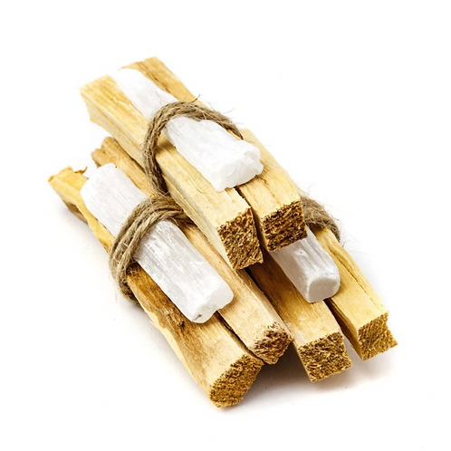 Palo Santo + Selenite Bundle- Dispels Negative Energy + Removes Energy Blocks