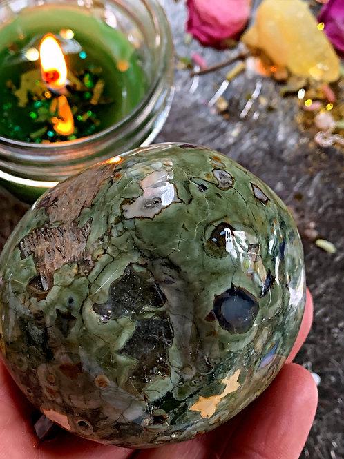 Large Rain Forest Jasper- Powerful Wishing Granting Stone For Manifestation