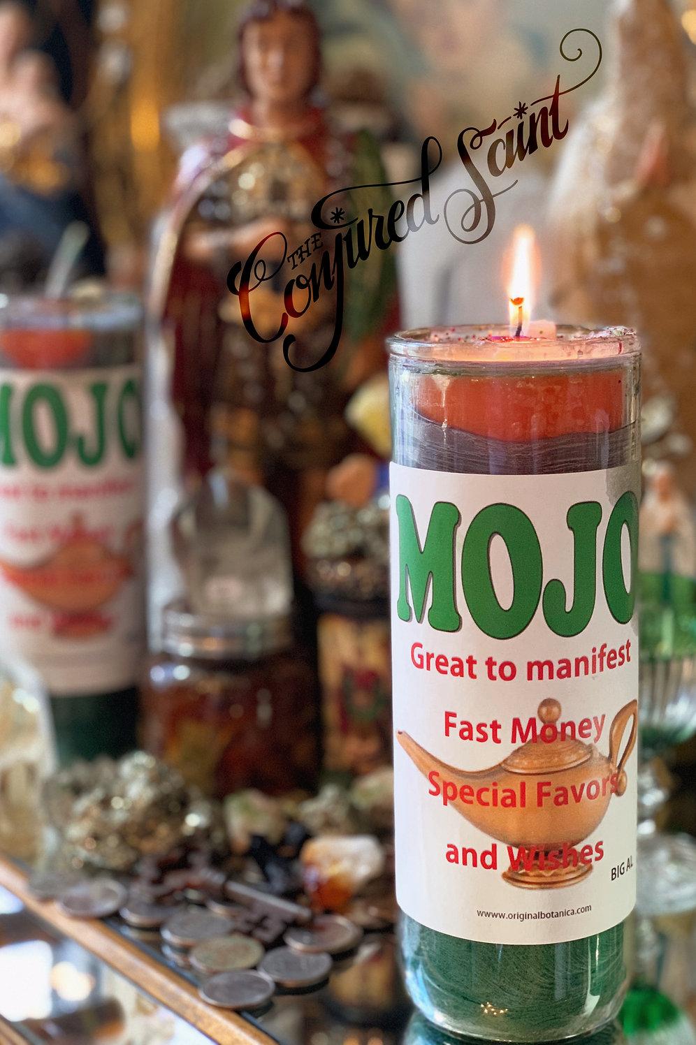 Mojo Manifestation Candle- Filled W/ Good JuJu & A Good Fortune Scroll |  theconjuredsaint