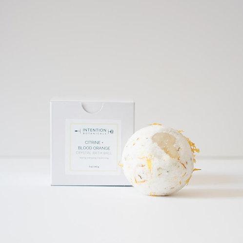 Citrine Crystal Bath Balls | Blood Orange