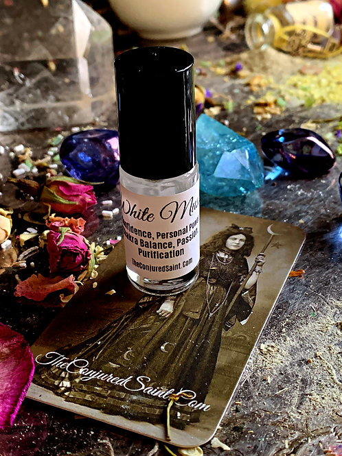 White Musk Ritual Oil-Roll-on Perfume- Steeped For A Full Alchemy Month