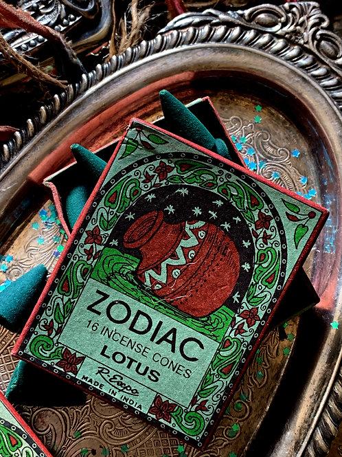 Aquarius Zodiac Incense Cones