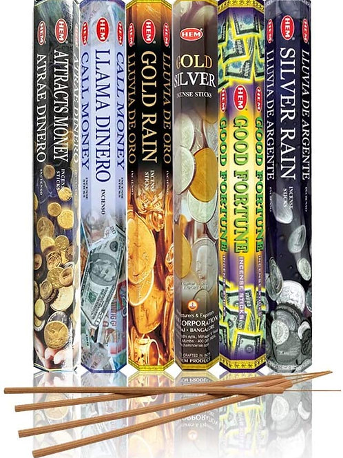 Money Drawing Incense Set - Attracts Money, Call Money Bring in Good Fortune
