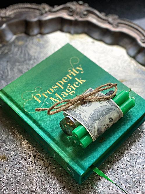Prosperity Magick Spells for Wealth Book & Spell Set