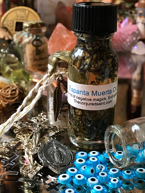 "Espanta Muerta ""Ghost Chaser"" Oil- Gets Rid of Negative Magick, Evil Spirits.."