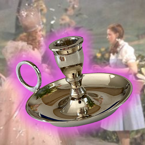 Witch's Crome Chime Candlestick Candle Holder- For Magical Workings