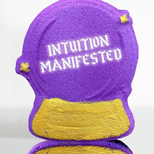 INTUITION MANIFESTED- Bath Bomb - Made with the Energy of Angel Aura Quartz
