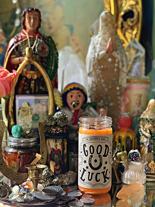 Good Luck Spell Candle- All Purpose Conjuring, Attraction, Luv, Mystery