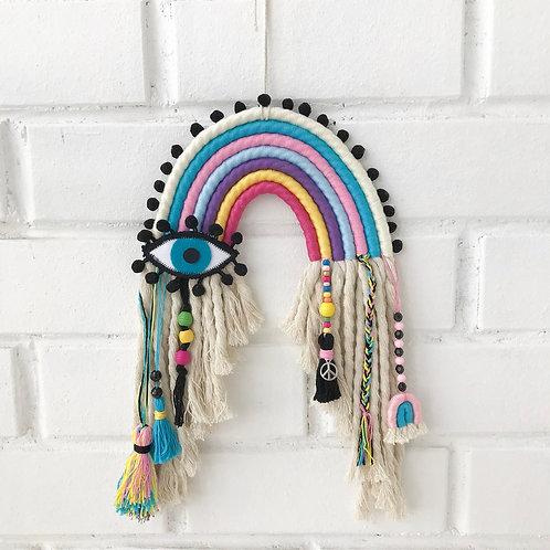 ustom Made Rainbow Evil Eye Protection Wall Hanging, Evil Eye