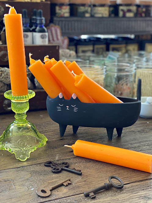 Orange COACH Spell Candle- Opportunity, Investments, Road-Opening, Legal Matters