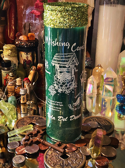 Wishing Well 7 Day Hoodoo Ritual Candle- Wish Granting, Luck, Abundance, Love
