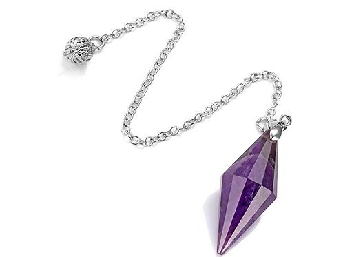 "Amethyst Pendulum- ""Change Stone"" for Protection, Spiritual Transformation, Heal"