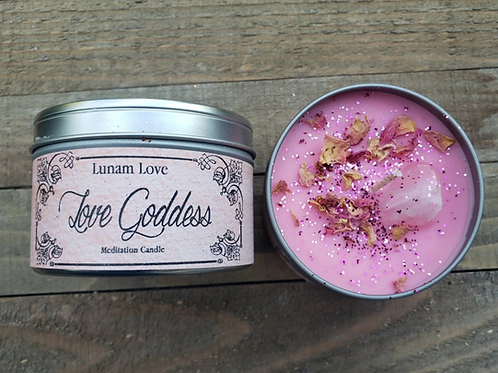 Love Goddess Intention Candle- Love, Love, Love, Happiness, Manifest, Attraction