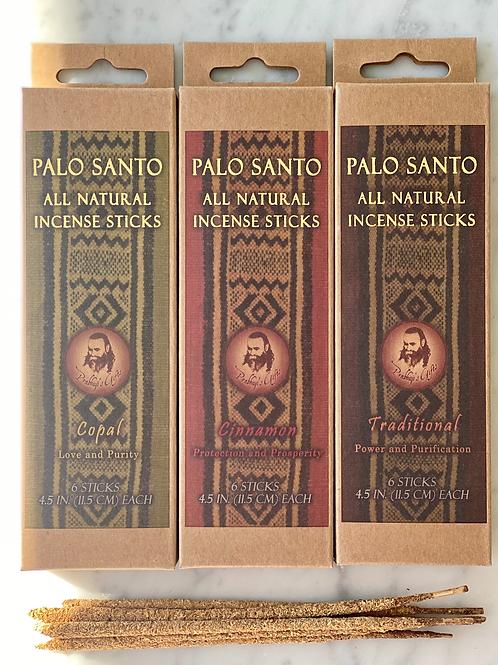 Palo Santo and Cinnamon Incense Sticks - Protection & Prosperity - 6 Incense