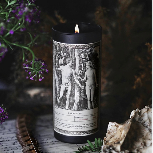 Forbidden Ritual Candles NOIR with Sinfully Dark Fruits, Cassis, Lichen & Forest