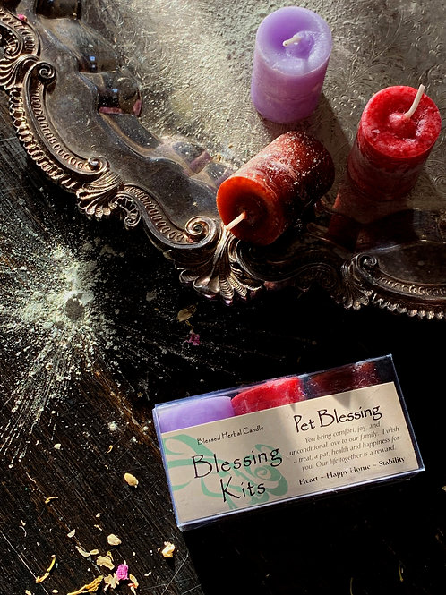Pet Blessings Candle Kit- Love, Animals, Healings, Protection and More.