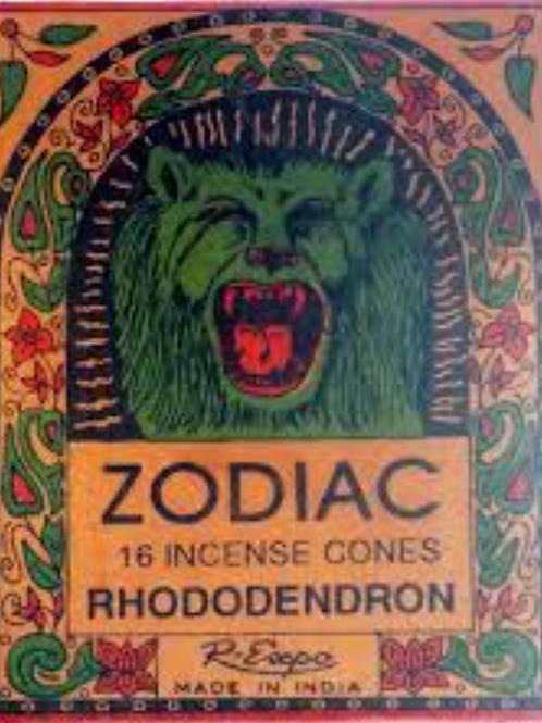 Leo Zodiac Rhododendron Incense Cones