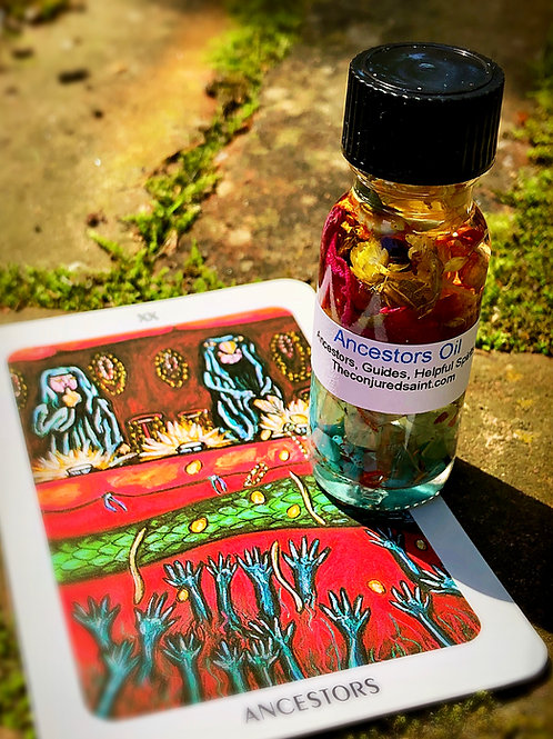 Ancestors Oil- Guides, Ancestors & Helpful Spirits, Hoodoo, Voodoo, Wiccan, Pagan, Santeria, Brujeria