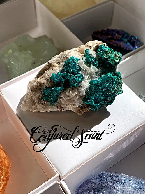DIOPTASE- Top Quality HARD TO FIND - Talisman To Secure A Sound Financial Future