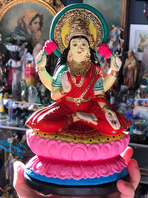 Large Laxmi Goddess of Fortune Statuette- Changes Money Related Problems