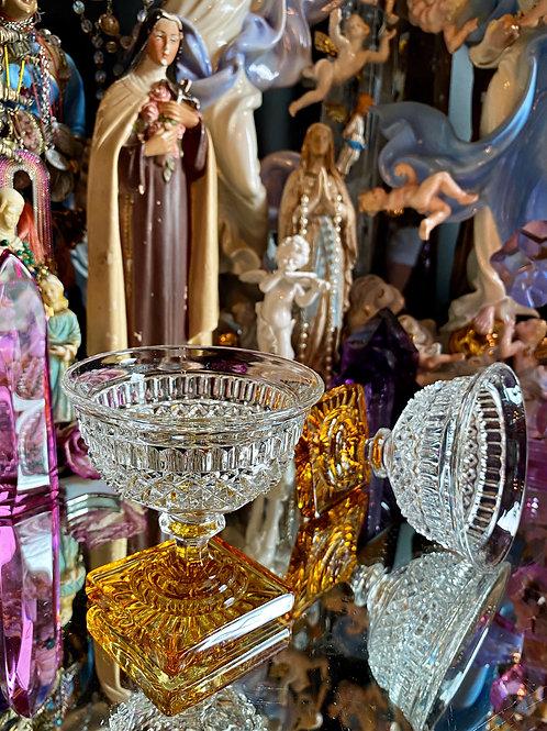 Vintage Altar Glass- Spirt offering, Ancestor Shrines and Altars.
