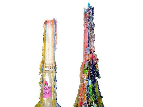 Multi Color Drip Taper Candle Set- Spell Candles, Manifestation, Intent