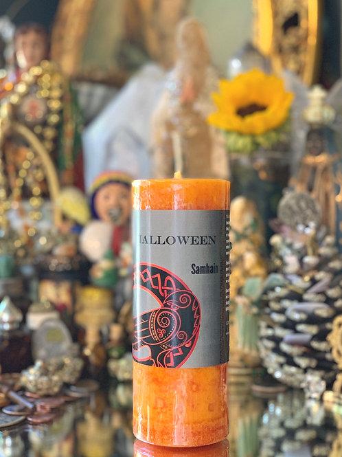 Halloween / Samhain Pillar Candle- Ancestor & Spirit Callings, Divination