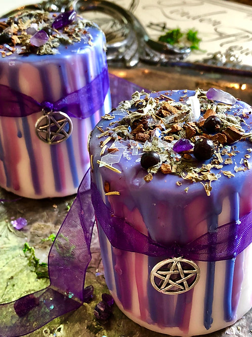 Psychic Ability Spell Candle- Crafted to Aid in Increasing Psychic Ability