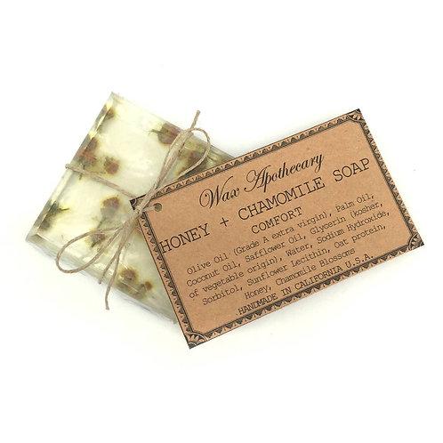 Handmade Botanical Soap- Comforting - Honey & Chamomile