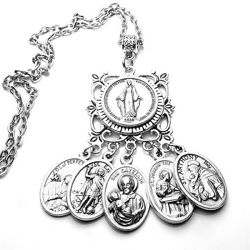 Financial Success Holy Miraculous Medal Set