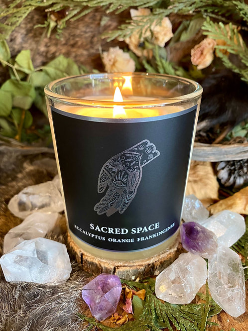 Sacred Space 8.5oz Candle- Spiritual Maintenance, Protection, Peace, Cleansing