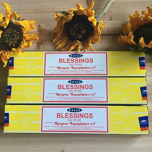 Satya Nag Champa Blessings Incense- Allowing A Flow of Blessings